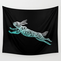 Too Late Wall Tapestry by Norman Duenas