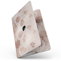 "Rose Gold Lace Pattern 3 - 13"" MacBook Pro without Touch Bar Skin Kit"
