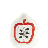 Kate Spade Pretty Pantry Apple Spoon Rest White ONE