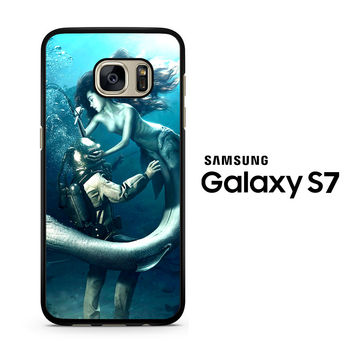 Diver and The Mermaid Samsung Galaxy S7 Case