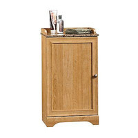 Floor Cabinet, Highland Oak Finish Reversible Door Bathroom Storage New Free