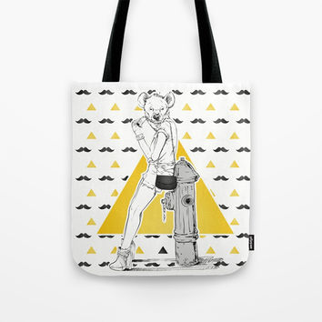 Fashion Girl Tote Bag by MIKART
