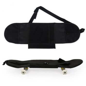 Women & men unisex skateboard skate board cover longboard protection carrying backpack carry bag open Pocket with velcro black