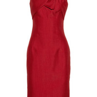 Giambattista Valli Silk and cotton-blend twist-bow dress – 70% at THE OUTNET.COM
