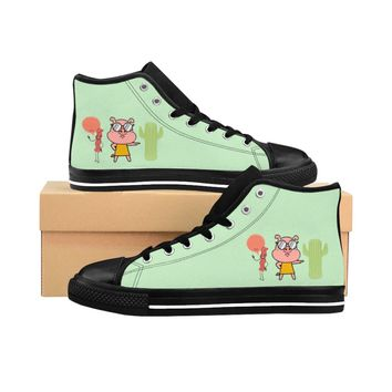 Pig And Bacon Women's High-top Sneakers