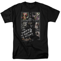 BATMAN AA/RUNNING THE ASYLUM - S/S ADULT 18/1 - BLACK -