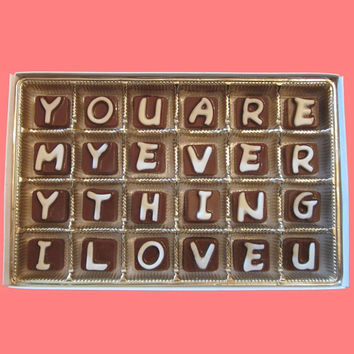 You Are My Everything I Love You Cubic Chocolate Letters