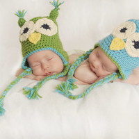 Baby Owl hats. Boy or great for twin. picture prop