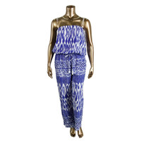 Tommy Bahama Womens Strapless Bandeau Jumpsuit Swim Cover-Up