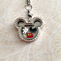 Mickey inspired locket and charms