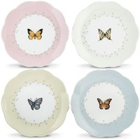 "Butterfly Meadow® 4-pc 8"" Dessert Plate Set By Lenox"
