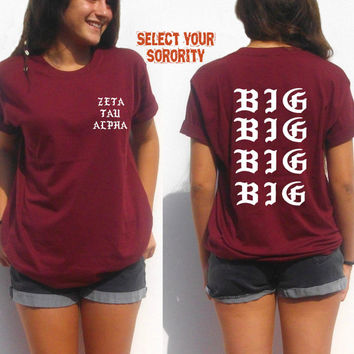 Custom sorority big little reveal shirt family best friends inspired hip hop sigma delta tau zeta tau alpha phi kappa gamma theta delta
