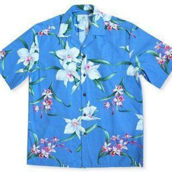 Surprise Blue Hawaiian Cotton Shirt