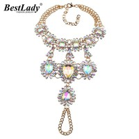Best lady 2016 New Boho Multicolor Long Foot Chain Summer Beach Luxury Anklets Bracelets Sexy Charm Crystal Anklets Women 3676