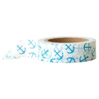 Nautical Blue Anchors Washi Tape