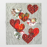 Spread love! Throw Blanket by Bozena Wojtaszek
