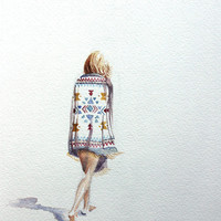 roam . giclee fine art print of watercolor painting