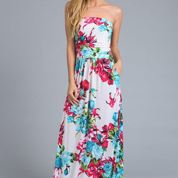 Tropical Nights Maxi Dress - Ivory