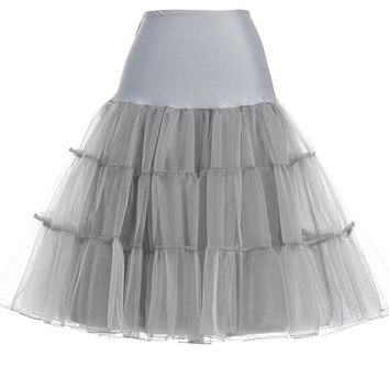 Vintage Petticoats Black White 7 Colors Swing Short Rockabilly Underskirt Retro Dress Tutu Crinoline Bridal Wedding Petticoat