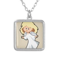 Cute Angel Silver Plated Necklace
