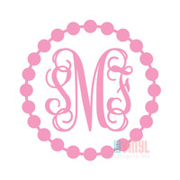 Car Monogram Sticker, Vinyl monogram, Monogrammed sticker, Monogram sticker, monogram decal, Laptop monogram, multiple sizes