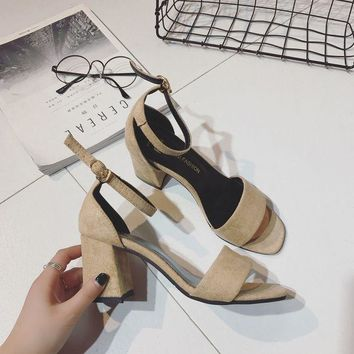 ca PEAPTM4 Design Stylish High Heel Shoes Summer Korean Casual Roman Sandals [11192795847]