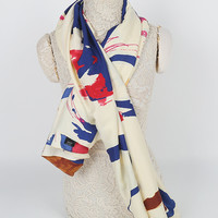 Casual Abstract Printed Square Scarf