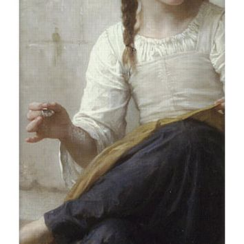 Sewing By Adolphe-William Bouguereau - Yoga Mat