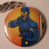 "Comic Book 1.5"" Keychain// Blue Beetle (Ted Kord)"