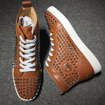 DCCKU62 Cl Christian Louboutin Louis Spikes Style #1827 Sneakers Fashion Shoes