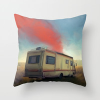 breaking bad Throw Pillow by Robotrake