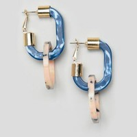 ASOS DESIGN hoop earrings in resin with open link at asos.com