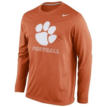 Clemson Tigers Nike Legend Practice Long Sleeve Performance T-Shirt - Orange