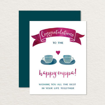 Congratulations A2 Printable Greeting Card / Wedding Card / Engagement Card / Relationship Card