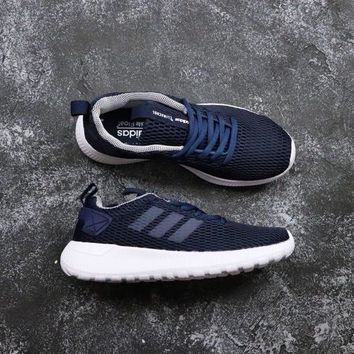Adidas Neo Cloudfoam Life Racer CC Black White Navy - Best Deal Online