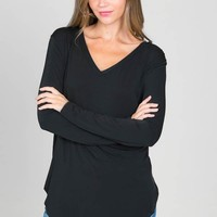 Perfect V Neck - Black