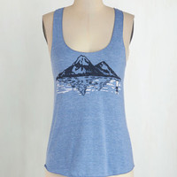 Vintage Inspired Mid-length Tank top (2 thick straps) National Parks Pass Top by ModCloth