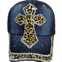 Leopard Cross Baseball Cap