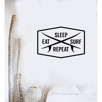 Vinyl Wall Decal Surfing Surfer Lifestyle Beach Style Surf Quote Words Stickers Mural (ig6024)