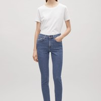 Skinny-fit cropped jeans - Blue - Trousers - COS US