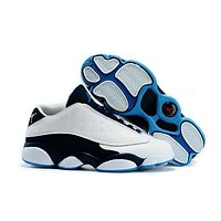 Air Jordan 13 Retro AJ13 Low White/Blue Basketball Shoes