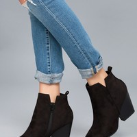 Marissa Black Suede Ankle Booties