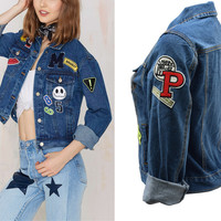 Fashion Loose Jacket Denim Windbreaker