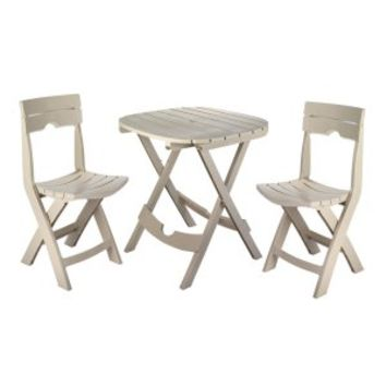 Coral Coast Lindos 3 Piece Folding Patio Bistro Set | www.hayneedle.com