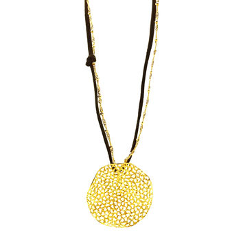 Coral in Gold-plated Silver, Necklace