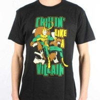 MARVEL -- CHILLIN LIKE A VILLAIN -- MENS FITTED JERSEY TEE