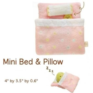 San-X Sumikko Gurashi ''Things in the Corner'' 4'' Bed and Pillow