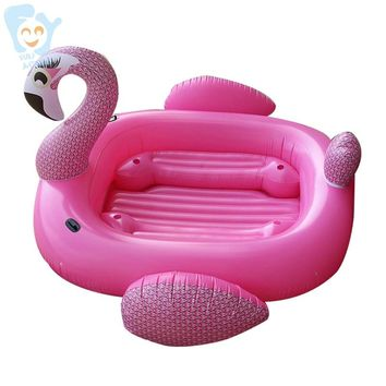 Giant 6-8 Person Pool Floats Inflatable Giant Flamingo Pool Float Boat Inflatable Float Island Water Toys Pool Fun Raft