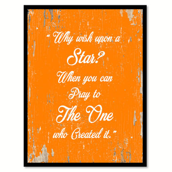 Why Wish Upon A Star Quote Saying Gift Ideas Home Decor Wall Art 111633