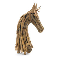 Go Home Rustic Wood Horse Head